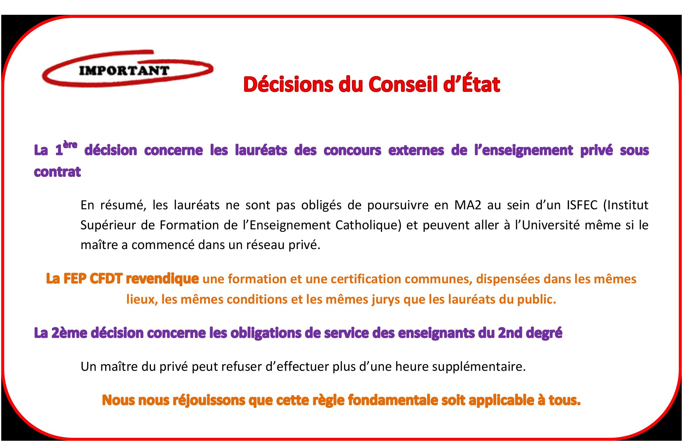 1ère article page ACCUEIL 29 avril decisions Conseil Etat